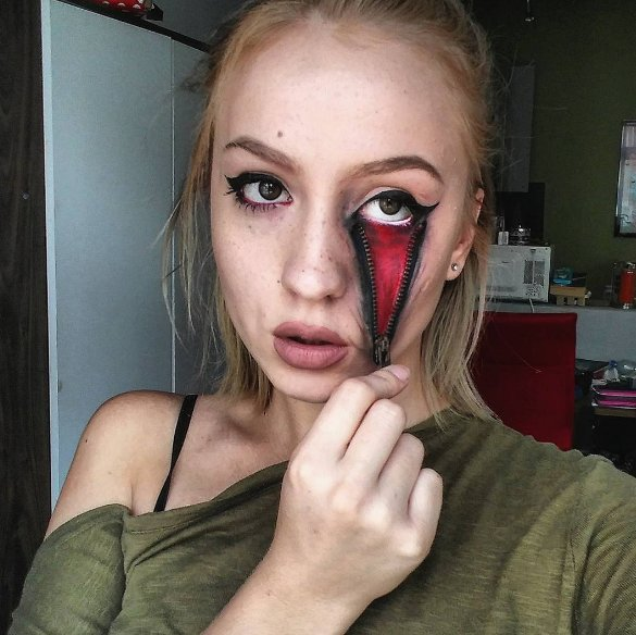 4d428450a Best Horror Halloween Face Makeup and Paintings