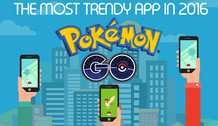 Infographic about Pokemon GO - the most trendy app in 2016