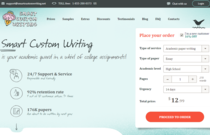 Smartcustomwriting.com review screen