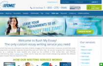 RushMyEssay.com review screen