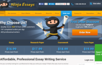 NinjaEssays.com review screen